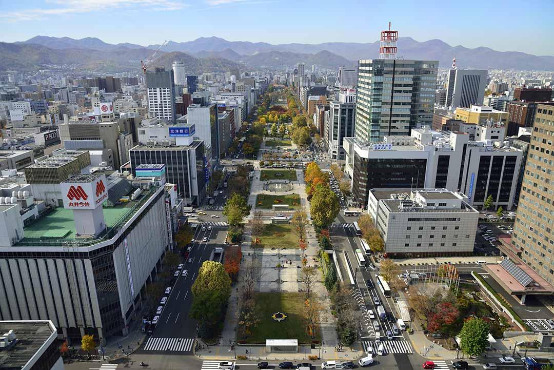 札幌市中心部にある大通り公園
