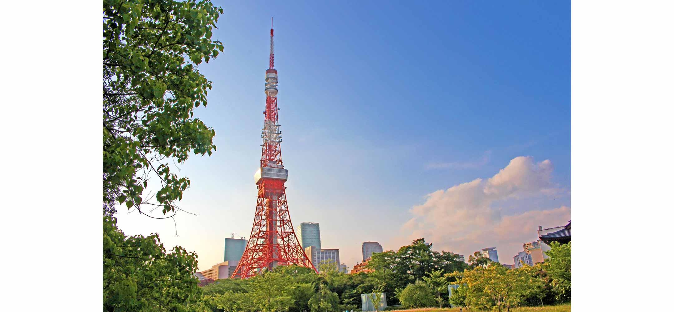 新緑の季節・午後の東京タワー