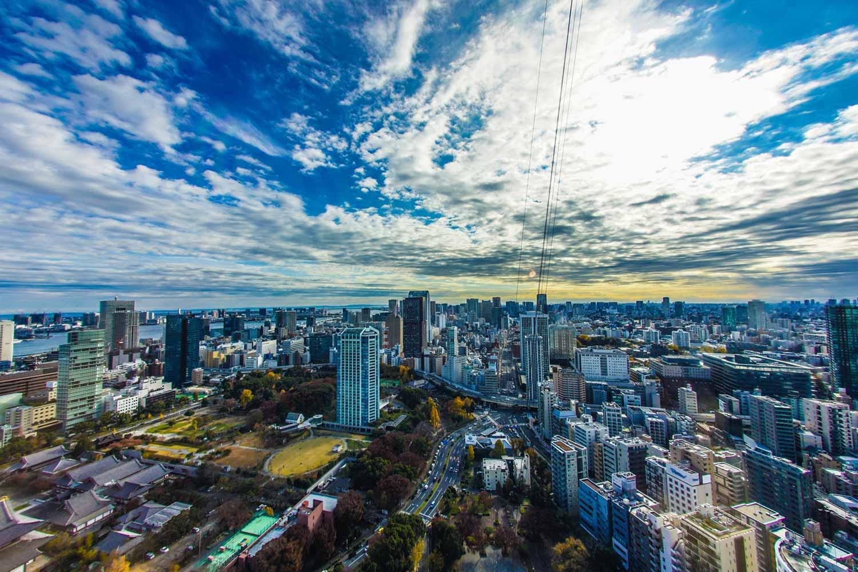 東京タワー展望デッキからの眺め