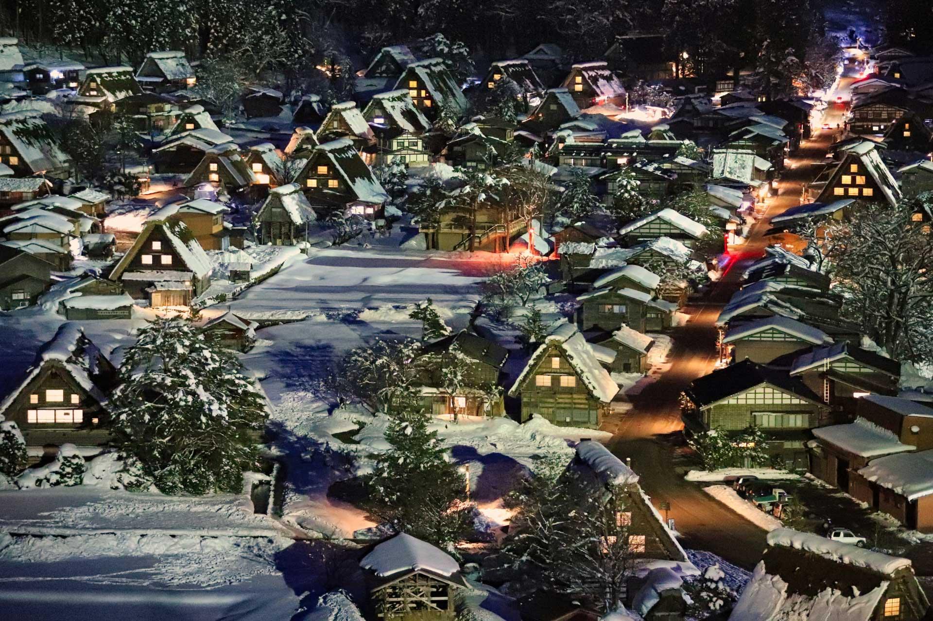 冬の夜は幻想的です