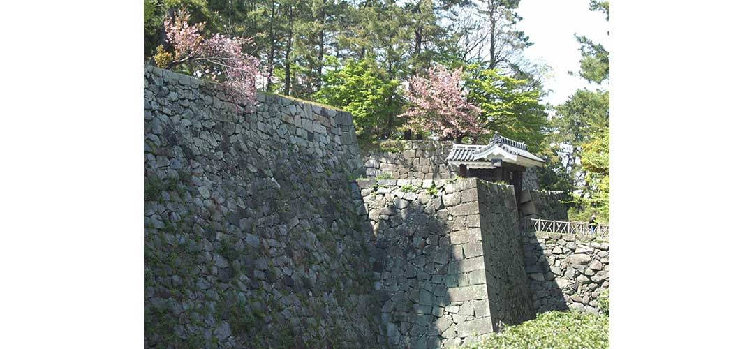 お城の石垣も見所です