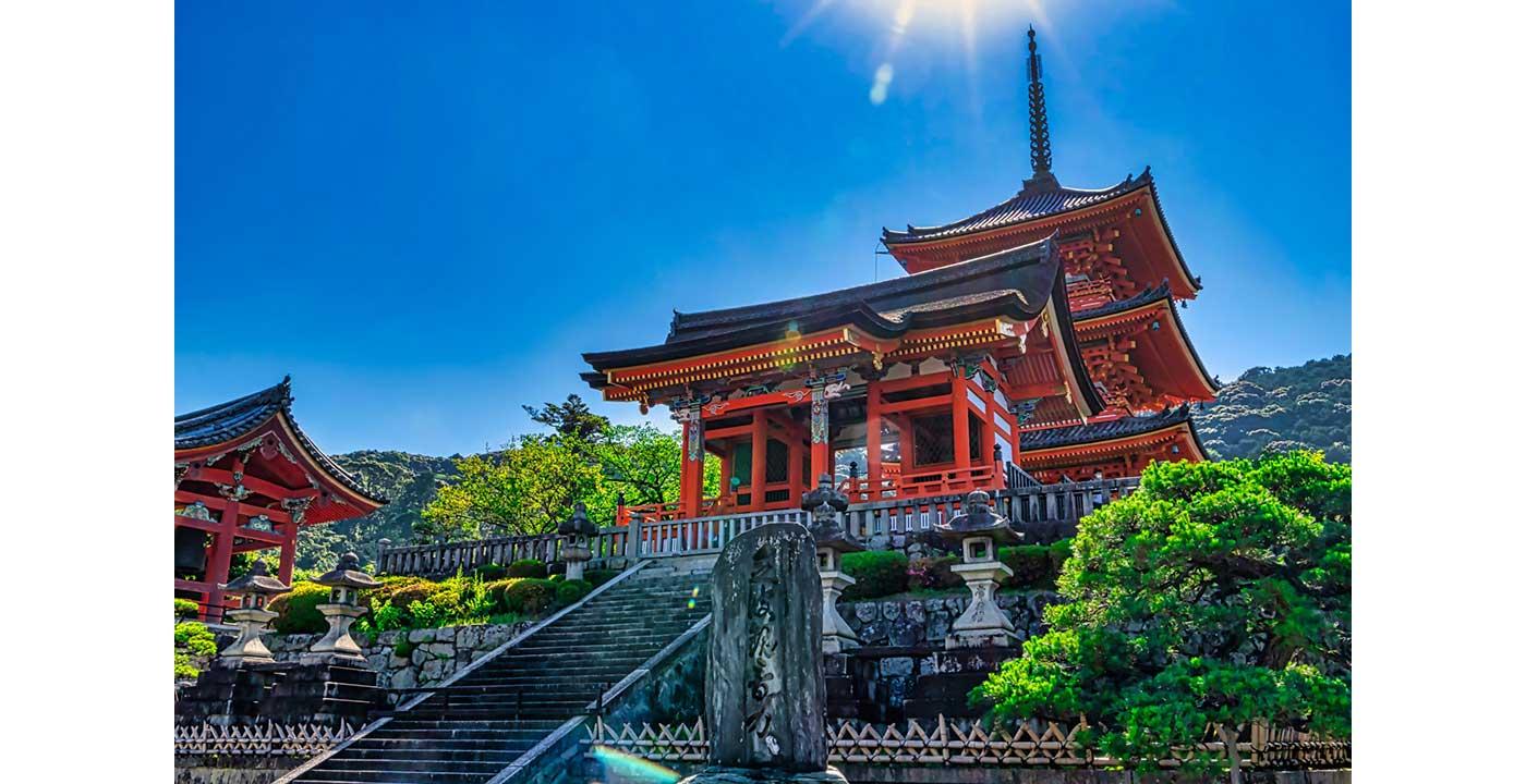 晴天の日の清水寺
