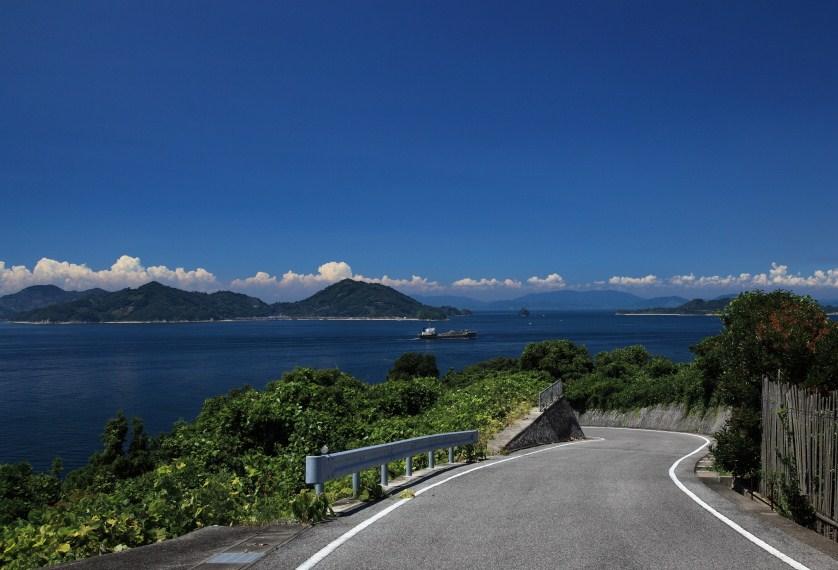 島から覗く海は絶景です