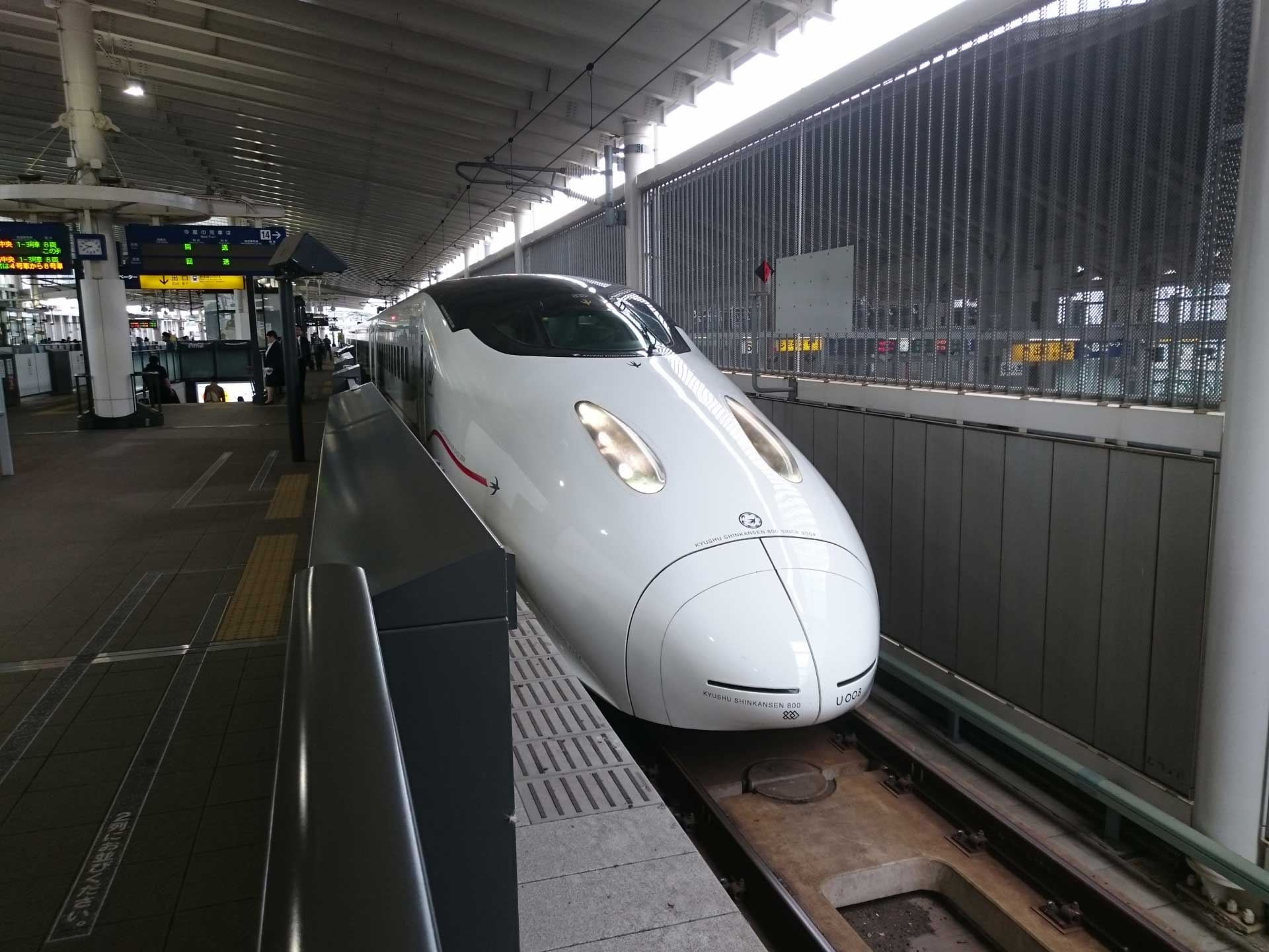 「つばめ」は九州内でしか見られない車両です