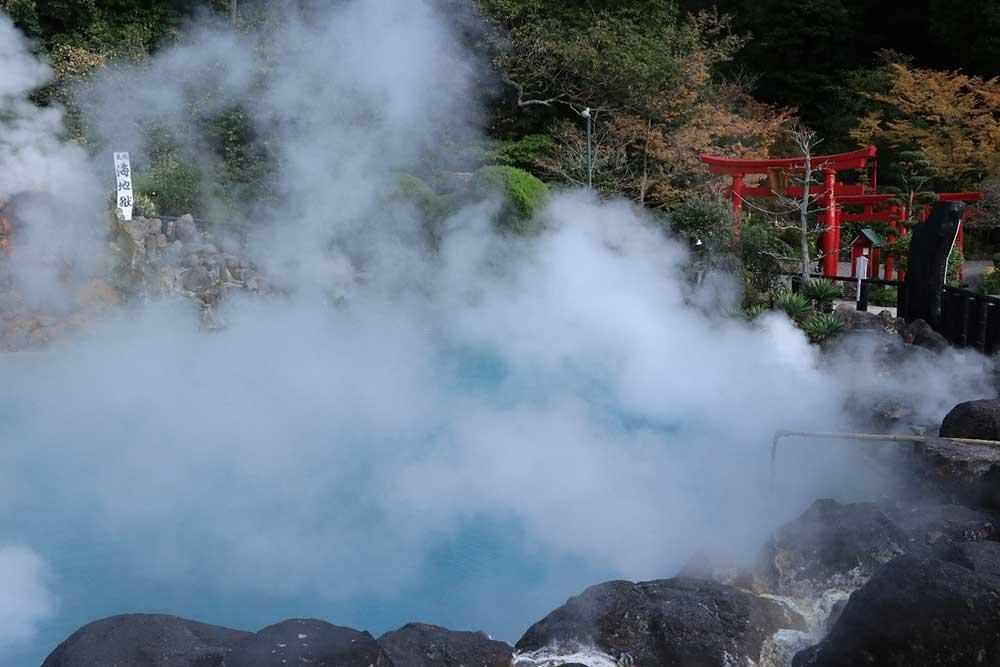 鉄輪温泉の風景