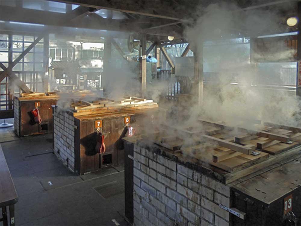 地獄蒸し工房鉄輪の調理場