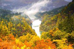 秋の只見橋 第一橋梁