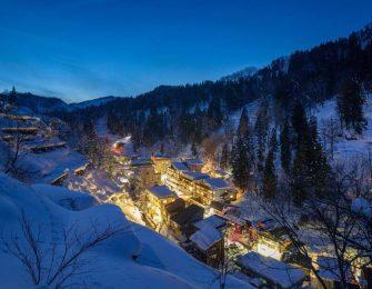 松之山温泉の絶景雪景色