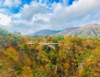 鳴子峡にかかる大深沢橋