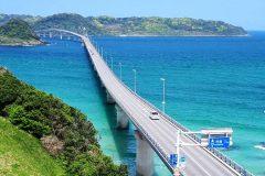 角島大橋展望台からの景色