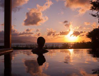 夕日を眺めながらの贅沢な時間