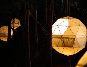 宵闇に浮かぶ幻想的なドーム