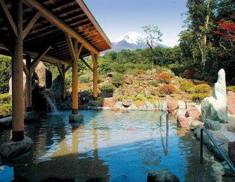 富士山の眺めが素晴らしい露天風呂