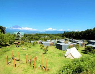 雄大な富士山を眺めながらのグランピング体験