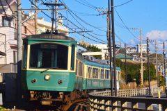 町中を走る江ノ電