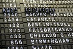 空港のフライトスケジュール 