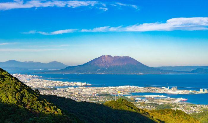 須々原展望台から見た桜島