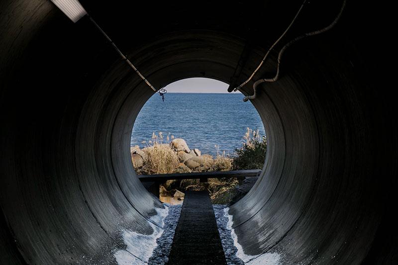 磯の湯への通り道