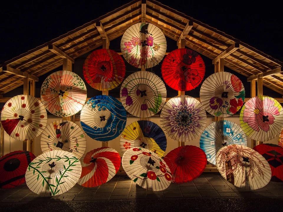 和傘の展示